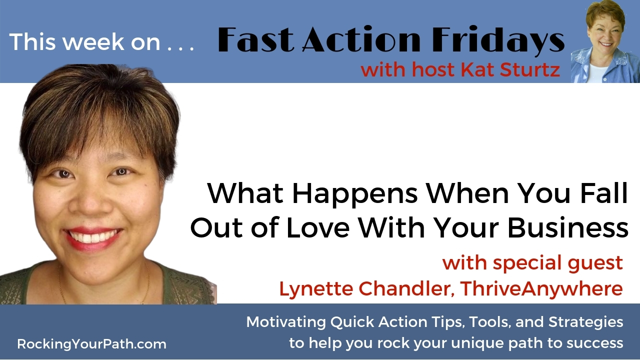 What Happens When You Fall Out of Love With Your Business with guest Lynette Chandler