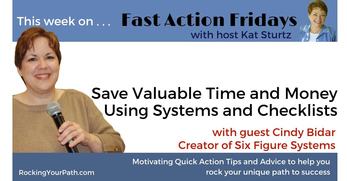 Faf Cindy Bidar Save Time Money Using Systems Checklists FB