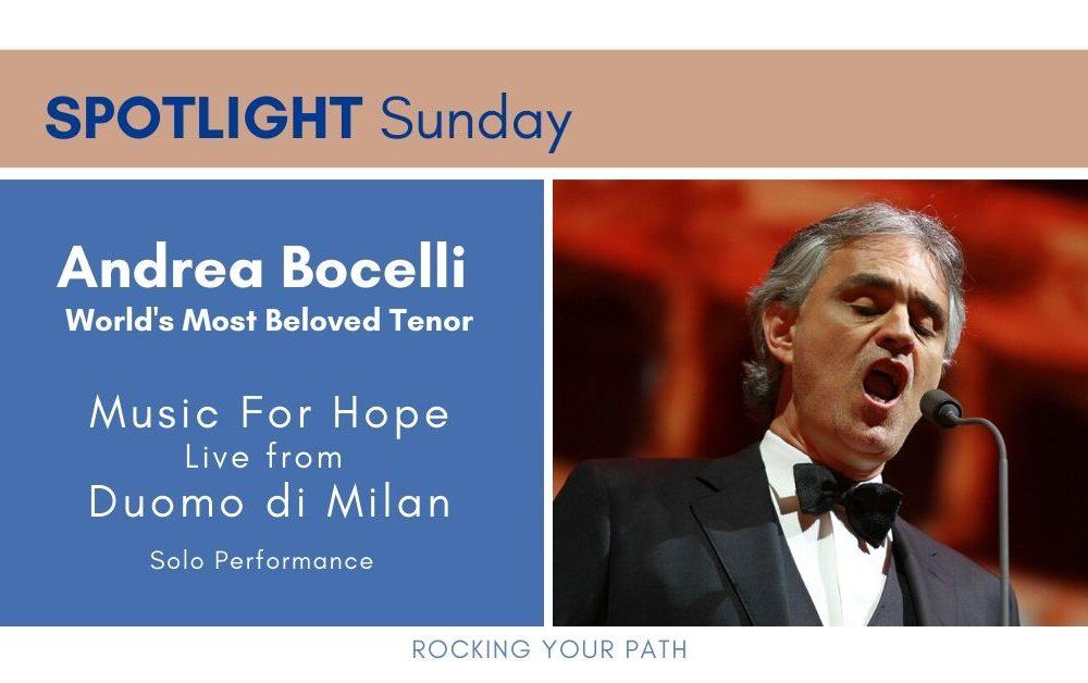 Spotlight Sunday Andrea Bocelli