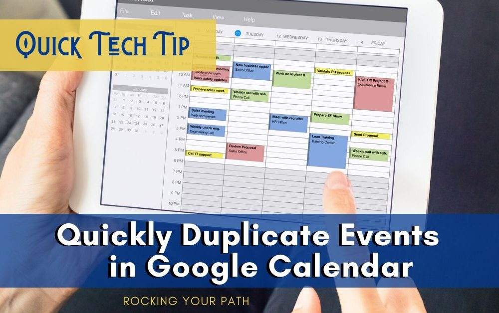 Quick Tech Tip: How to Quickly Duplicate Events in Google Calendar
