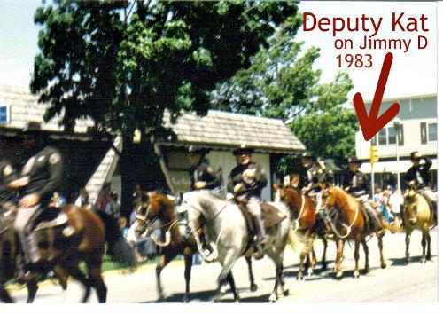 Deputy Kat riding Jimmy D