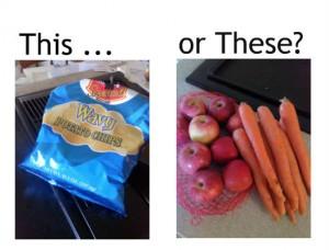 chips apple carrot