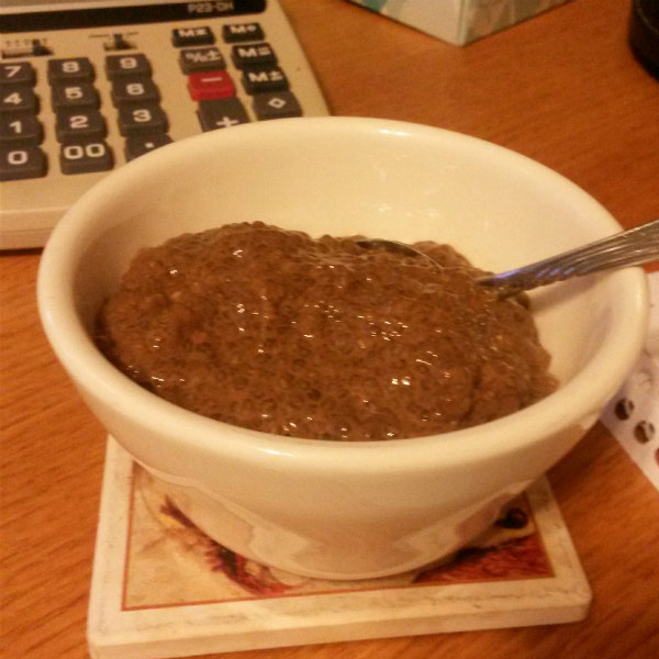 Chocolate Chia Seed Instant Pudding