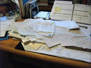 Kat's messy desk