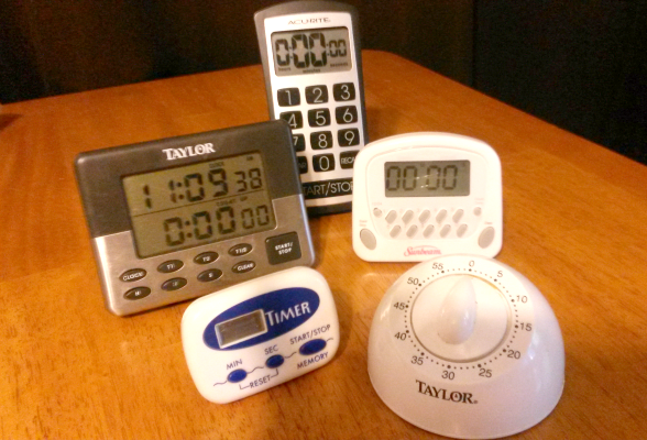 collection of kitchen timers