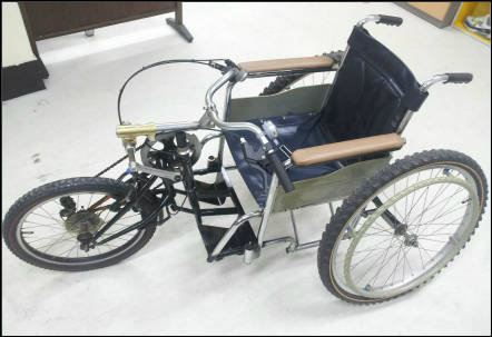 wheelchair-bike (patent pending